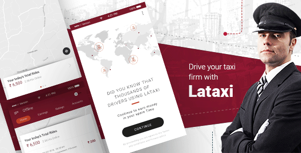 LaTaxi - On Demand Taxi Booking Application Script - Update April 2019