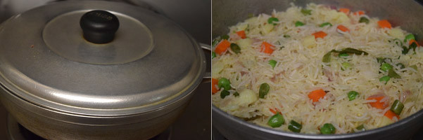 Vegetable Pulao/Veg Pulao cooking steps by GoSpicy.net