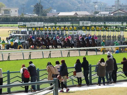 福島競馬場のダート1700mスタート地点