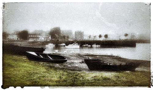 Foggy morning in Galway in Ireland, run through the photo app Snapseed
