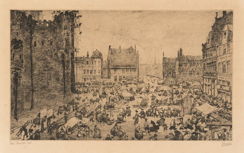 Jules De Bruycker - Place  Sainte-Pharaïlde, 1906
