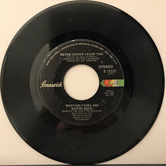 MARYANN FARRA AND SATIN SOUL:NEVER GONNA LEAVE YOU(RECORD SIDE-B)
