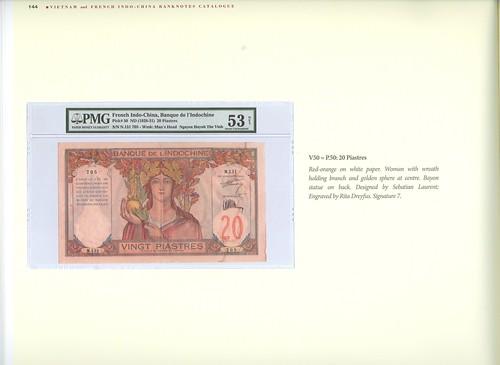 French Indo-China Banknotes book interior