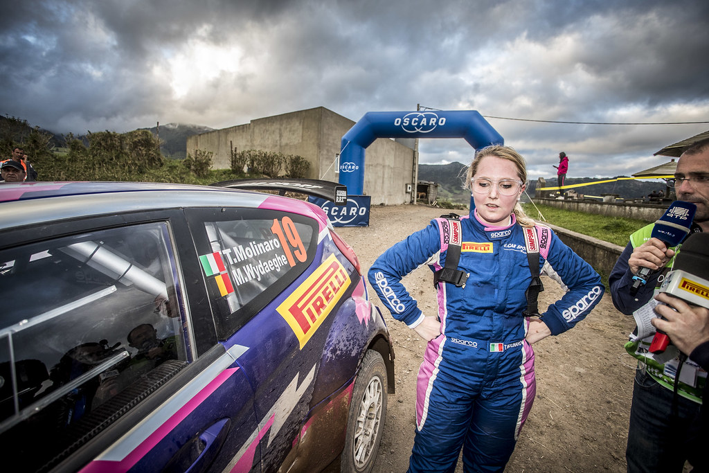 19 MOLINARO Tamara (ita), WYDAEGHE Martijn (bel), FORD FIESTA R5, portrait during the 2018 European Rally Championship ERC Azores rally,  from March 22 to 24, at Ponta Delgada Portugal - Photo Gregory Lenormand / DPPI