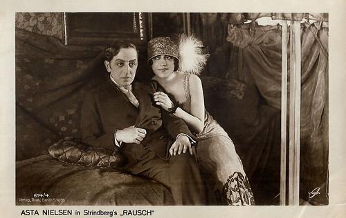 Asta Nielsen and Karl Meinhardt in Rausch (1919)
