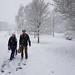 Joyce Burgess and Peter Barker, Belle Isle Park, Exeter Snowstorm