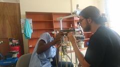 Working on a dental light - Mbarara