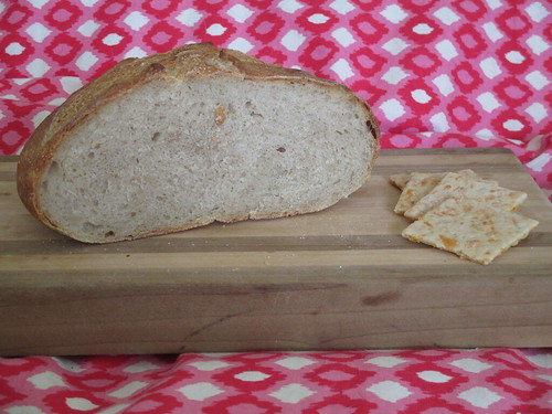 Basic hearth bread plus sourdough cheese crackers