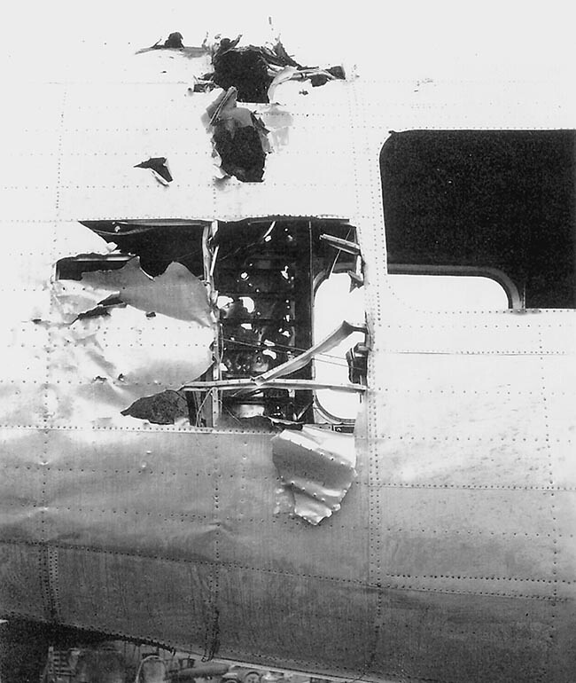 B-24 flak damage