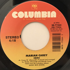 MARIAH CAREY:HERO(LABEL SIDE-A)