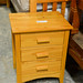 3 drawer pine locker E50