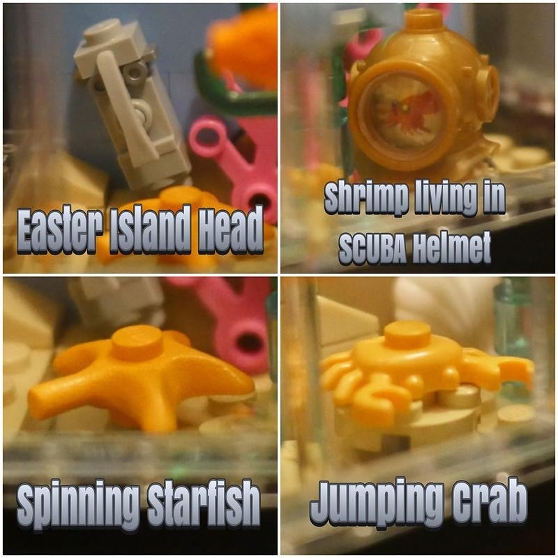 Lego Clockwork Aquarium - Lots of Features