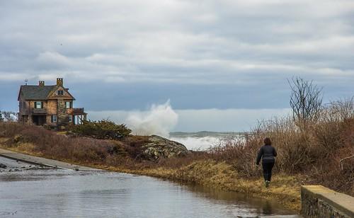 kennebunkport maine storm coastal coast surf oceanave newengland