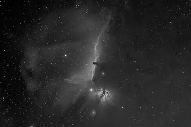 IC 434 Nebula-BW