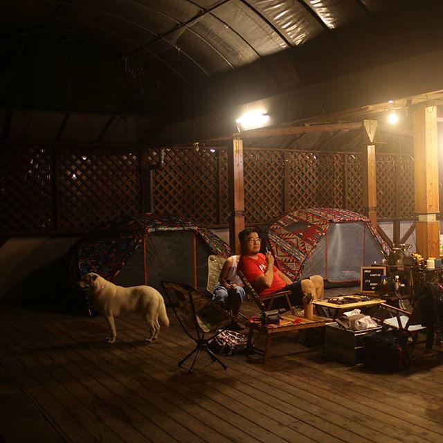 20180413 不露 會blue 今日搭棚下 #歐北露 #campinglife #campingwithdogs #ilovecamping #poler