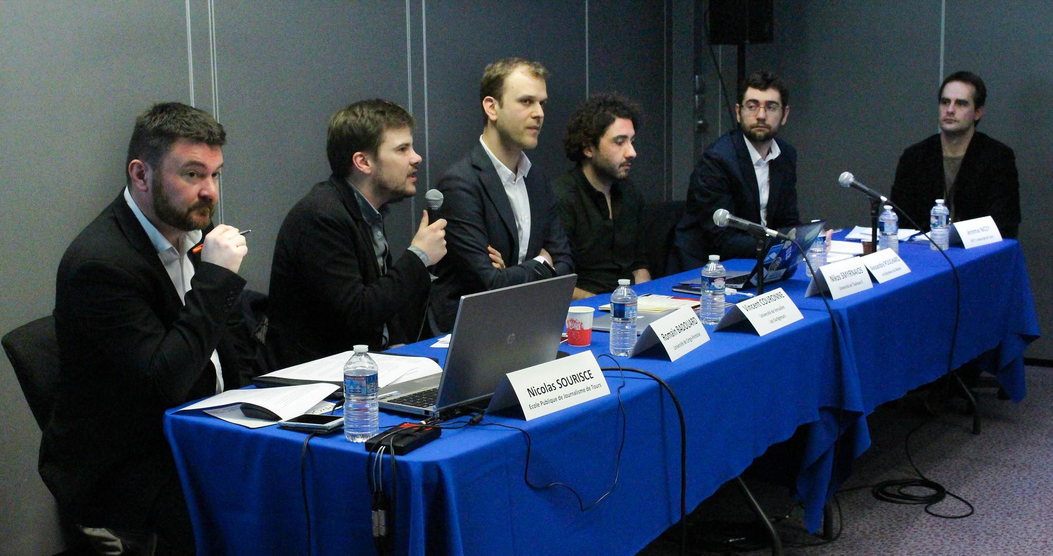 Chercheurs et journalistes ont débattu sur les limites et l'utilité du fact-checking. Photo : Clara Gaillot.
