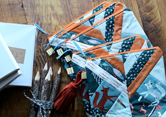 Campsite Bags with Handcrafted Journal and Branch Pencil Set