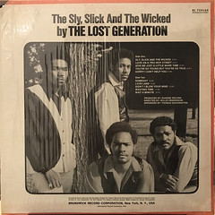 THE LOST GENERATION:THE SLY, SLICK AND THE WICKED(JACKET B)