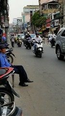 Outside the dental office in Saigon at 3:30 pm...