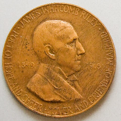James Whitcomb Riley medal obverse