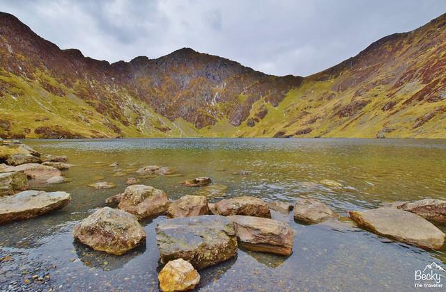 Cadair Idris walk - Llyn Cau lake - Minffordd Path Snowdonia Wales