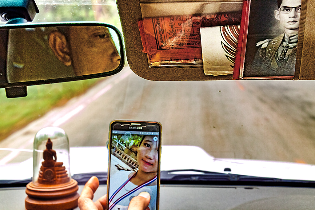 Inside Phap's truck--Chanthaburi