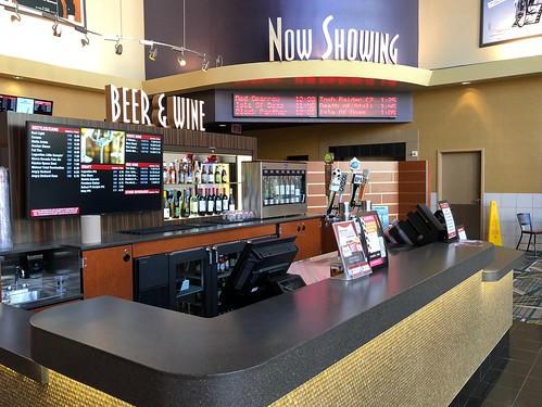 Wine Bar at Cinemark movie theater at Santana Row in San Jose, CA