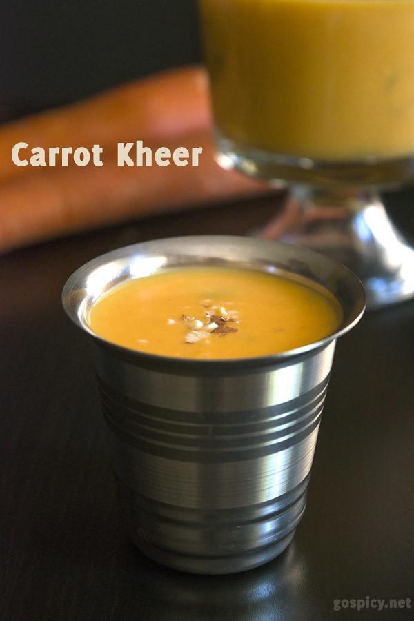 Carrot Kheer/Carrot Payasam Recipe by GoSpicy.net/