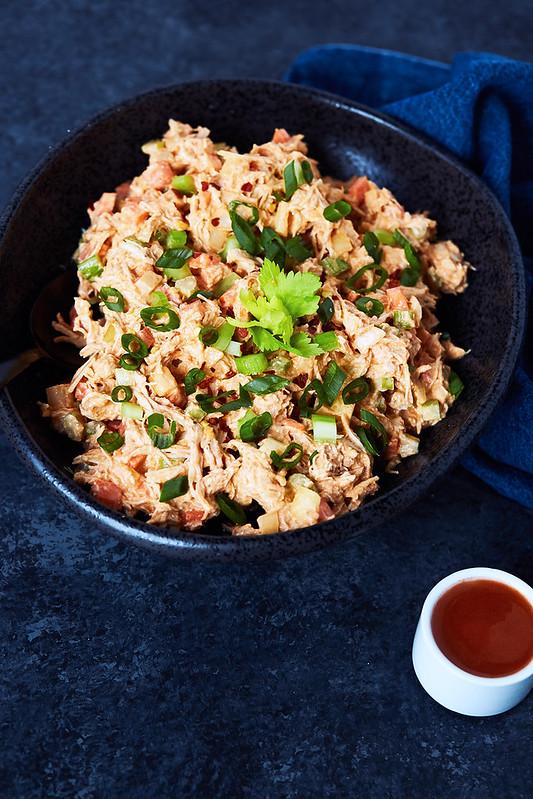 Paleo Buffalo Chicken Salad // {Gluten-free, Keto, Dairy-free}