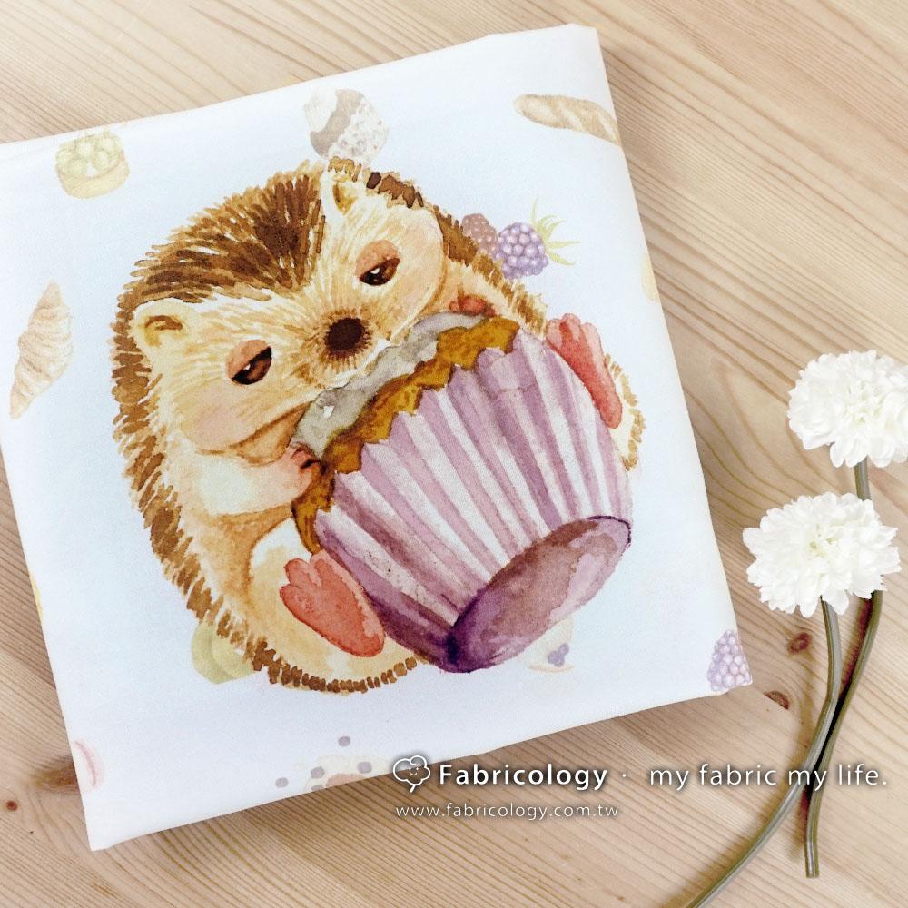 布學盒裝印花布(1y)貪吃刺蝟 手工藝DIy拼布布料 SW001803-8