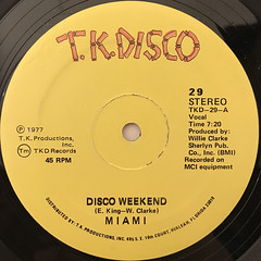 MIAMI:DISCO WEEKEND(LABEL SIDE-A)
