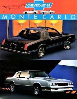 1988 Chevrolet Monte Carlo LS & SS Coupes (Canada)