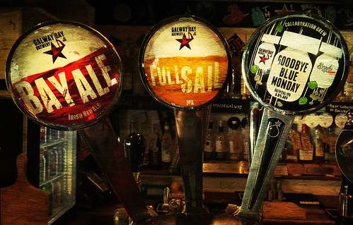 Taps in the Salthouse in Galway, Ireland, run through the photo app Stackables