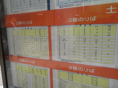 福島駅東口2番、3番バス乗り場の時刻表