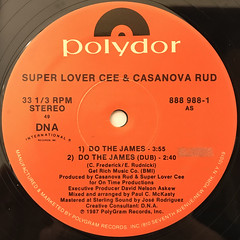 SUPER LOVER CEE & CASANOVA RUD:DO THE JAMES(LABEL SIDE-A)