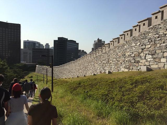 Seoul wall Namsan tower