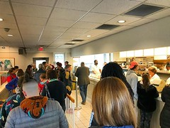 Just a normal morning at @bodosbagels in Charlottesville. The line is out the door.