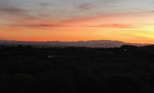 Arizona Desert Sunset. From History Comes Alive in Tucson