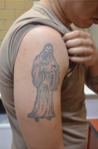 Interno del CEVARESO y sus tatuajes.