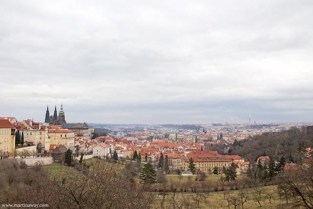 Praga dall'alto del Monastero Strahov