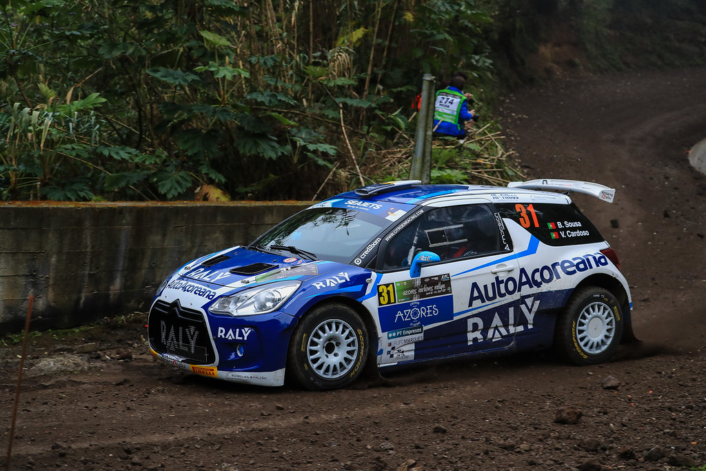 31 SOUSA Bernardo (prt), CARDOSO Walter (prt), RALY AUTOAÇOREANA RACING, CITROEN DS3 R5, action during the 2018 European Rally Championship ERC Azores rally,  from March 22 to 24, at Ponta Delgada Portugal - Photo Jorge Cunha / DPPI