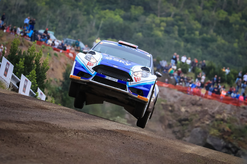 04 HABAJ Lukasz (pol), DYMURSKI Daniel (pol) , RALLY TECHNOLOGY, FORD FIESTA R5, action during the 2018 European Rally Championship ERC Azores rally,  from March 22 to 24, at Ponta Delgada Portugal - Photo Jorge Cunha / DPPI