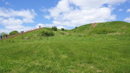 cahokia monksmound landscape grass nature hill steps sony sal1680z a77