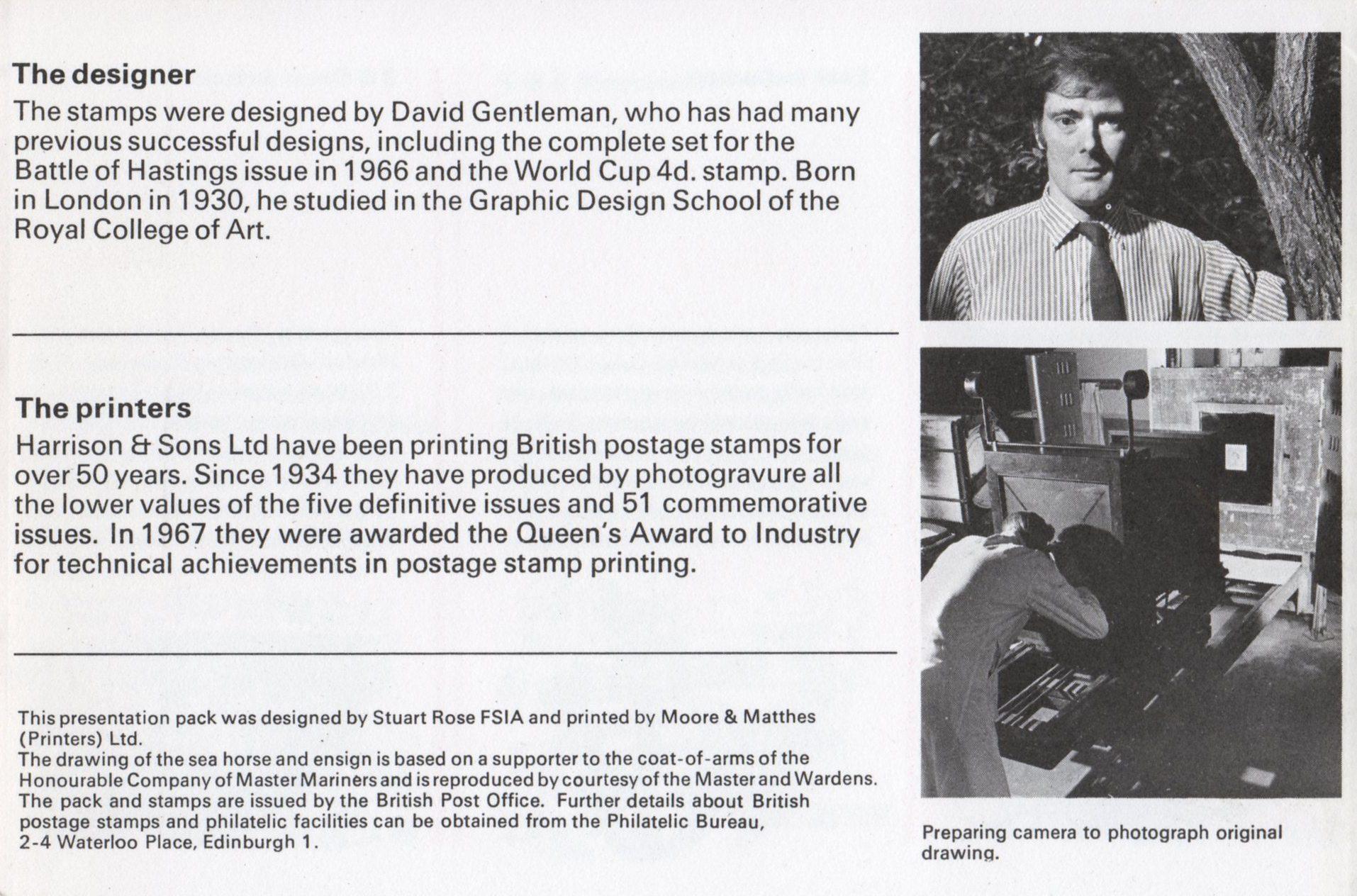 Great Britain - Scott #575-580 (1969) presentation pack