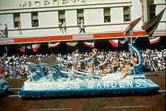 Kodachrome Slide of Cypress Gardens Float, St. Petersburg, FL Parade, 1950s