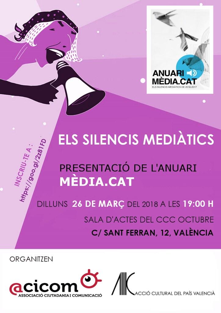 20180326 Presentació Anuari Mèdia.cat Els Silencis Mediàtics