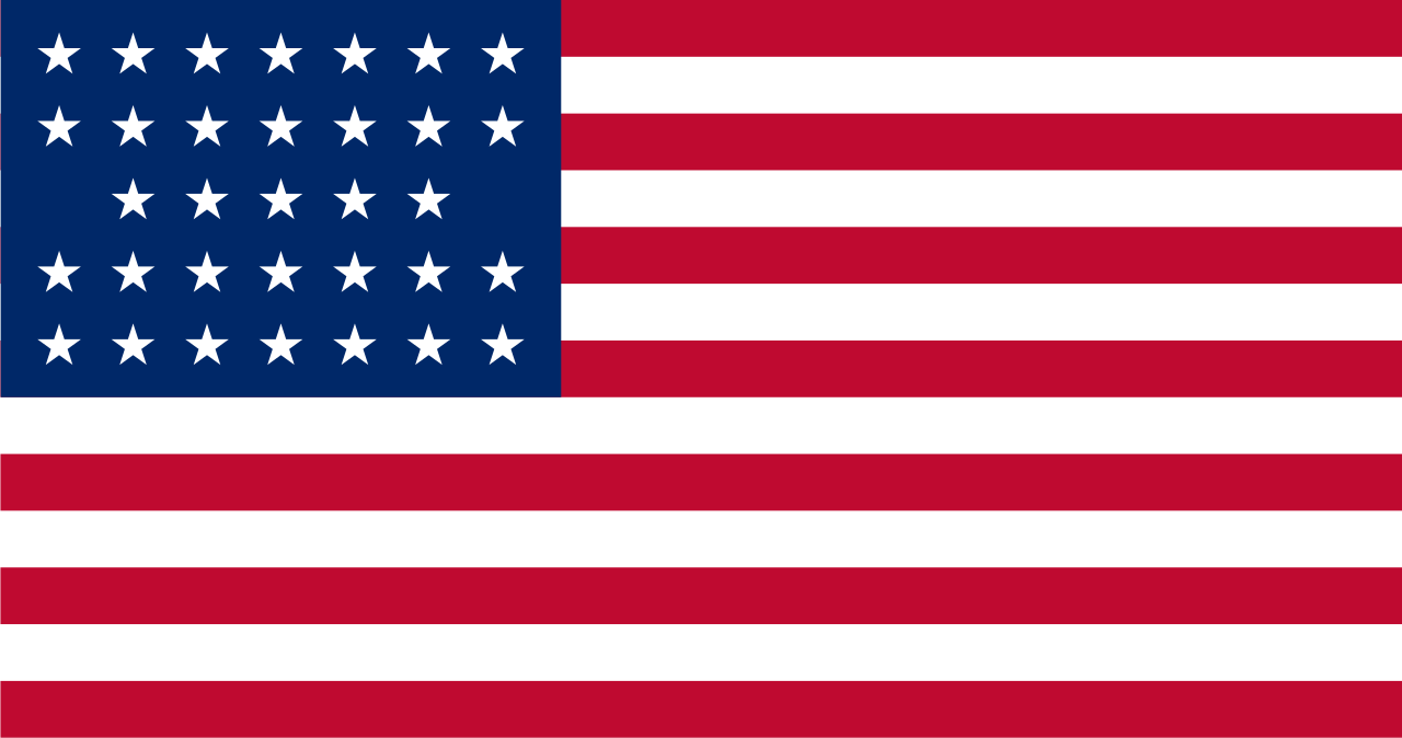 United States flag (1859 July 4–1861 July 3) - 33 stars