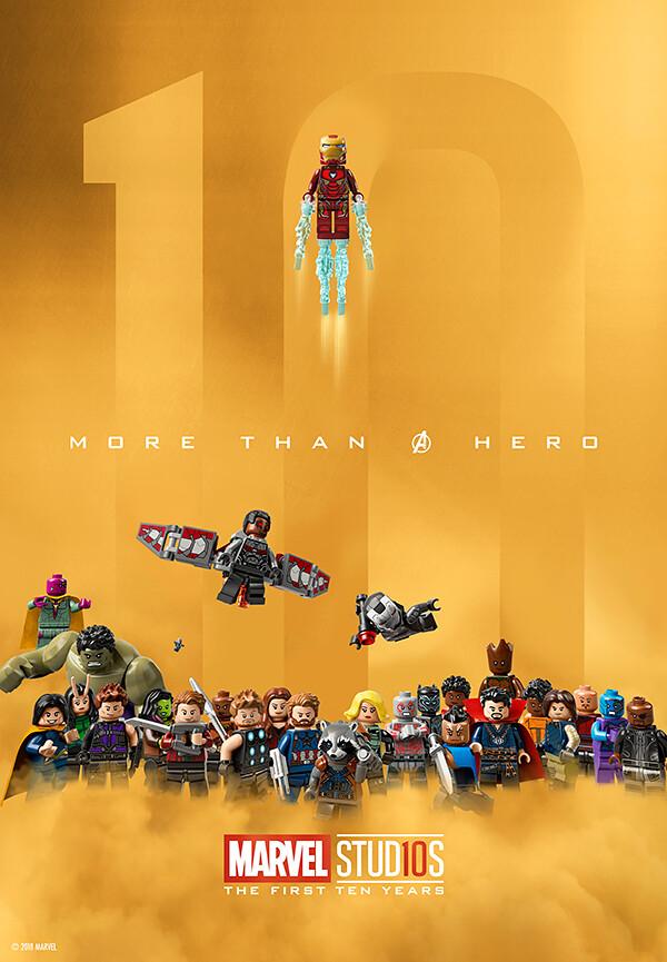 LEGO obchodzi 10 lat Marvel Cinematic Universe