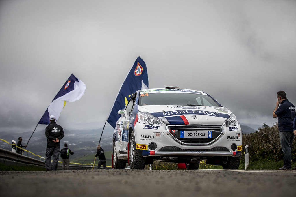44 WAGNER Simon (aut), WINTER Gerald (aut), Sainteloc junior team, Peugeot 208 R2, action during the 2018 European Rally Championship ERC Azores rally,  from March 22 to 24, at Ponta Delgada Portugal - Photo Gregory Lenormand / DPPI