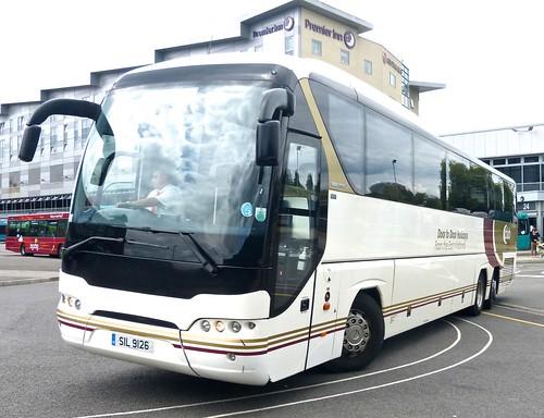 SIL 9126 'Skills Coaches'. Neoplan Tourliner N2216/3SHDL on 'Dennis Basford's railsroadsrunways.blogspot.co.uk'